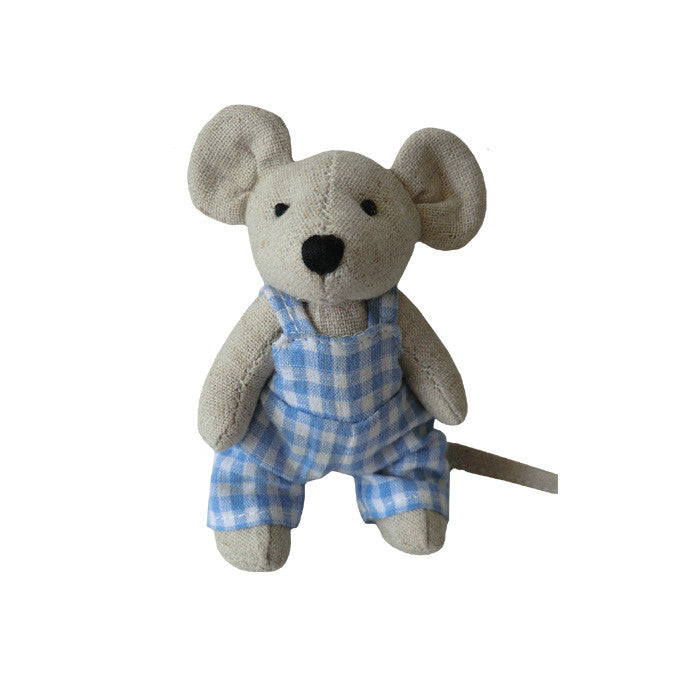 Mini Mouse with Blue Gingham Dungarees
