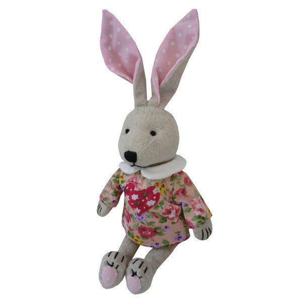 Embroidered Rabbit with Love Heart Dress