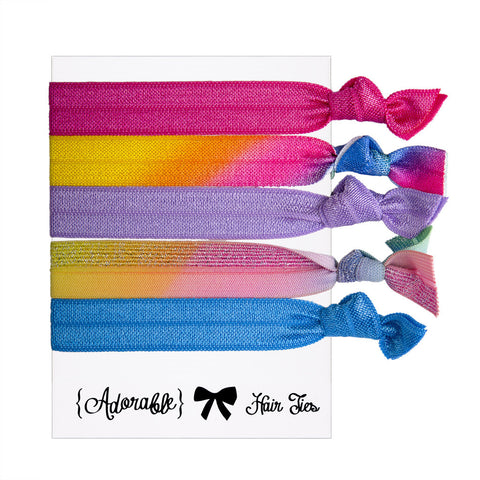 Hair & Wrist Band Multipack (Rainbow)