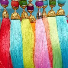 Semi-Precious Rainbow Long Tassel Necklaces