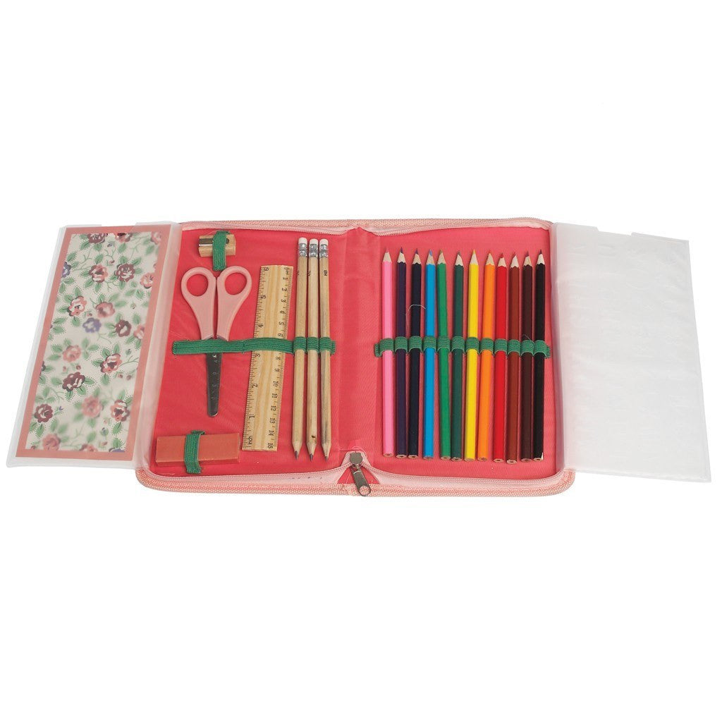 Rambling Rose School Drawing Set