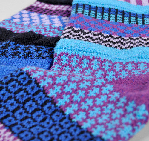 Rasberry Mismatched Knitted Socks