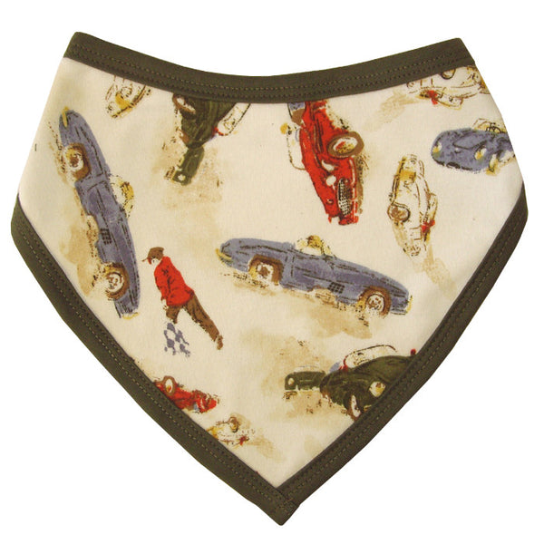 Vintage Racing Car Bandana Bib