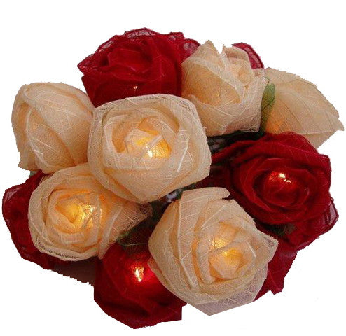 Red/Cream Roses String Lighting