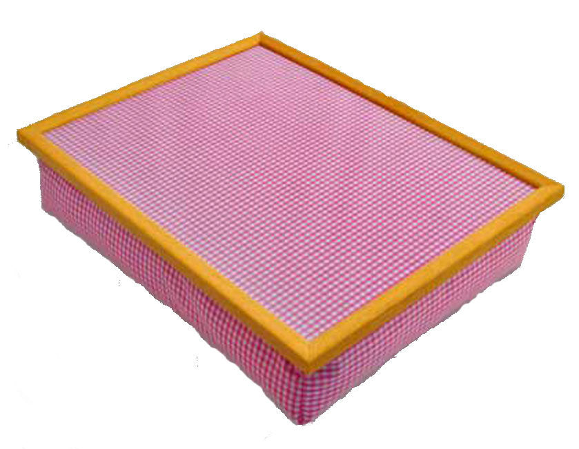 Red Check Lap Tray