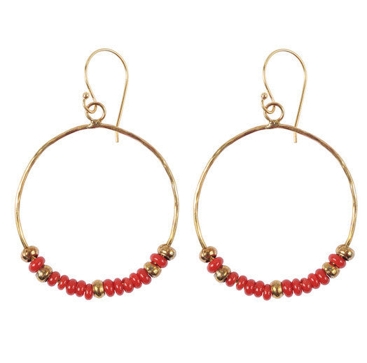 Red Hippy Chic Earrings
