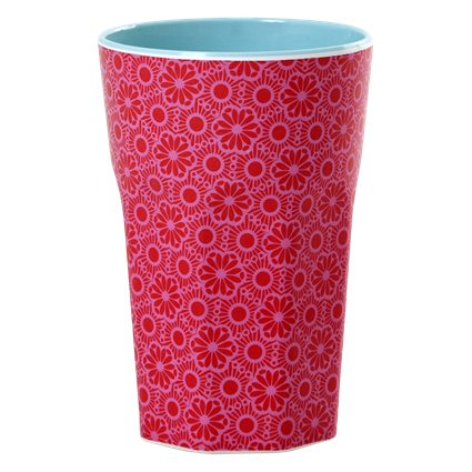 Red/Pink Melamine Latte Cup