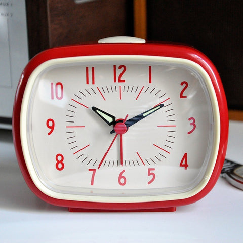 Red Retro Alarm Clock