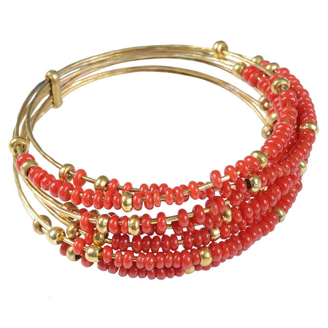 Red Semainier Bangle