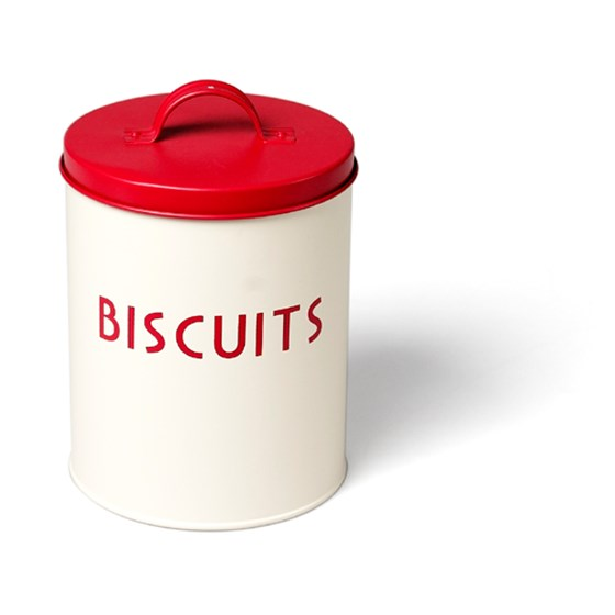 Vintage Red Biscuit Tin