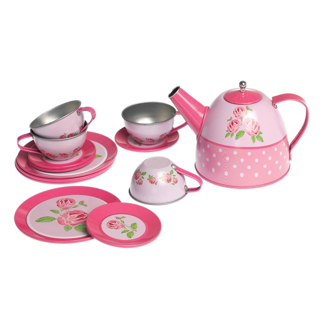 Rose Tin Tea Set