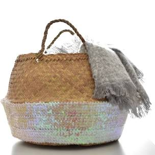 Rose Sequin Toulouse Baskets