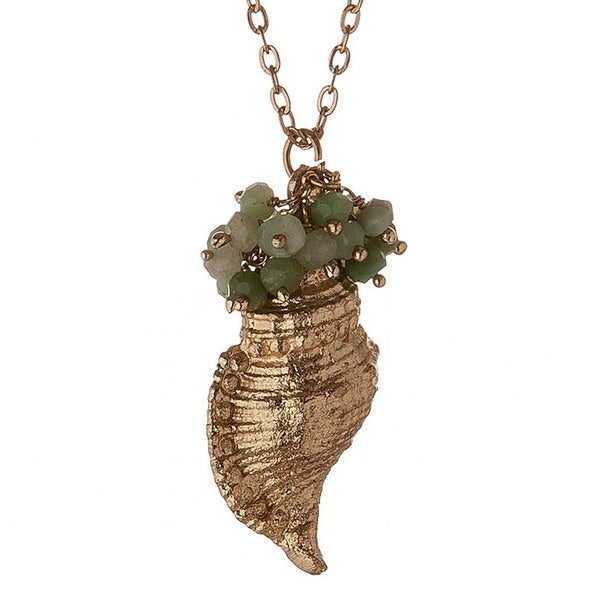 Semi-Precious Sea Shell Necklace