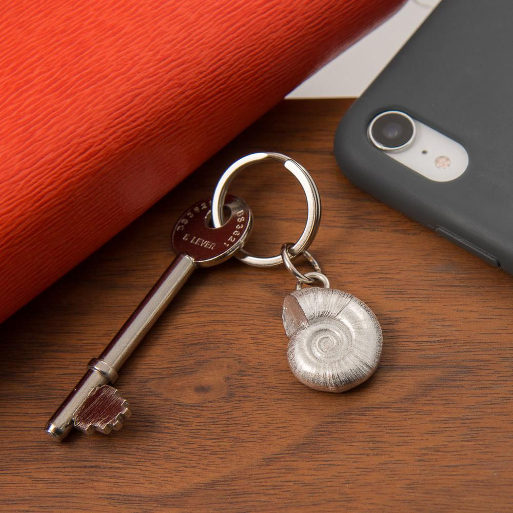 Shell Pewter Keyring