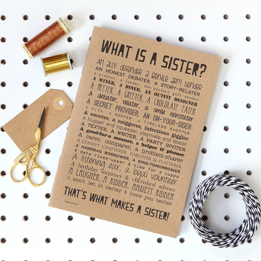 What is a Sister Poem Notebook