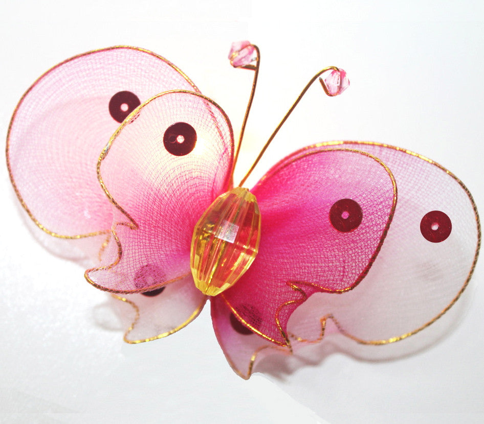 Pink Butterfly String Lighting