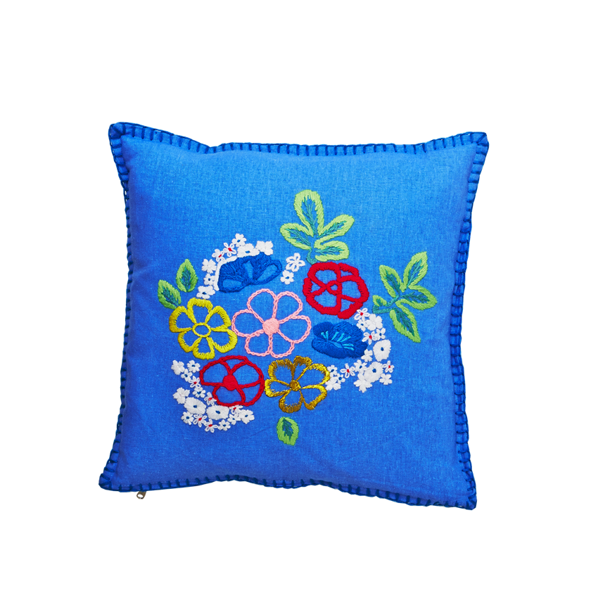 Hand Embroidered Cushion Cover 40cm