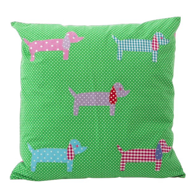 Green Dachshund Cushion Cover 40cm