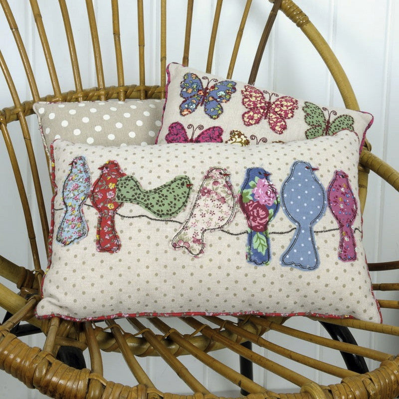 Patchwork Song Birds Cushion