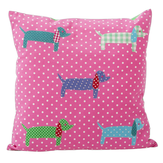 2 Dachshund Cushion Covers