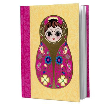 Small Yellow Babushka Notebook