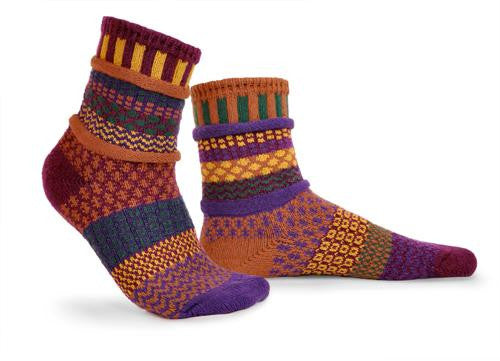 Fall Foliage Mismatched Knitted Socks