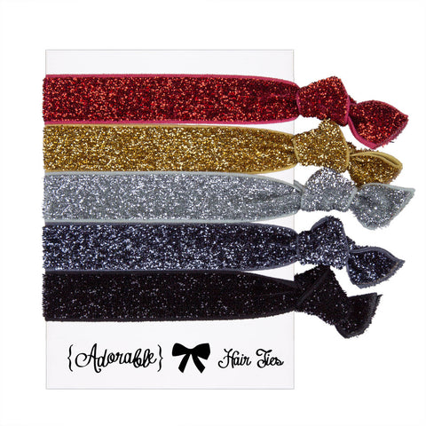 Hair & Wrist Band Multipack (Sparkle)