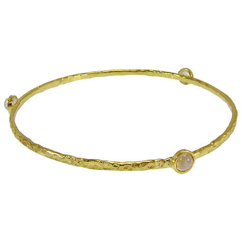 Moonstone Gold Plated Stacking Bangle