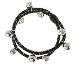 Black Tinsel Bead Hair Tie
