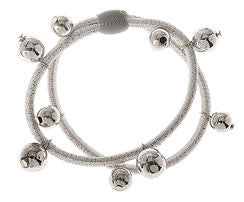 Silver Tinsel Bead Hair Tie
