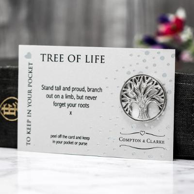 Tree Of Life Carded Pocket Charm