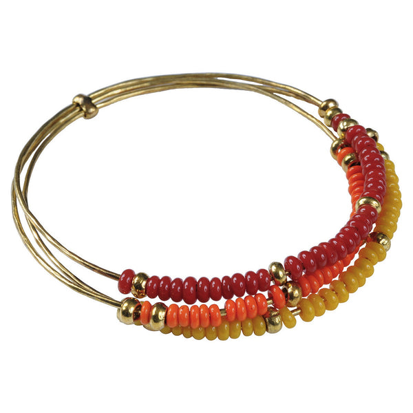 Red, Orange & Yellow Trilogy Bangle