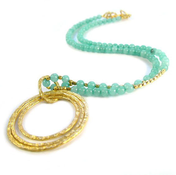 Triple Hoop Amazonite Necklace