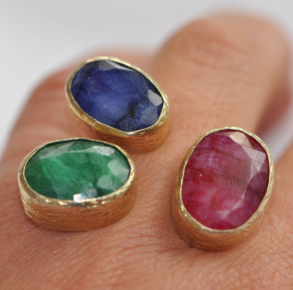 Emerald, Ruby and Sapphire Ring