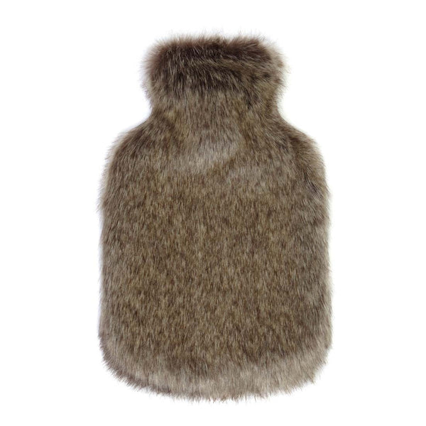Truffle Faux Fur Hot Water Bottle