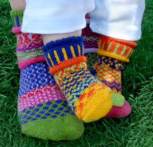 Tulip Mismatched Knitted Socks