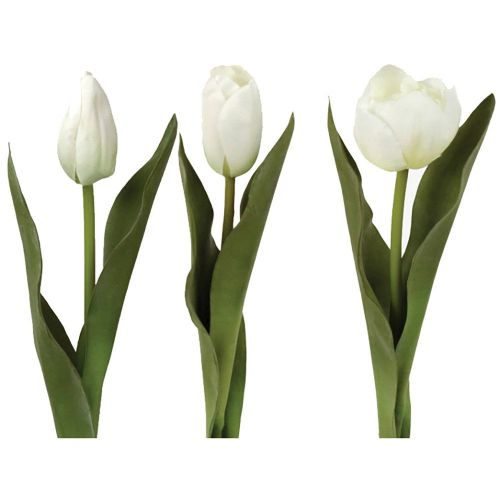 White Faux Tulips