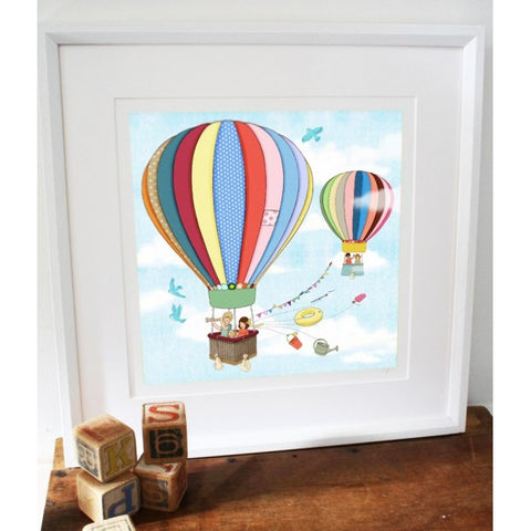 Belle & Boo Up Up & Away Framed Print