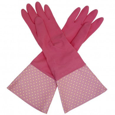 Vintage Spotty Washing Up Gloves