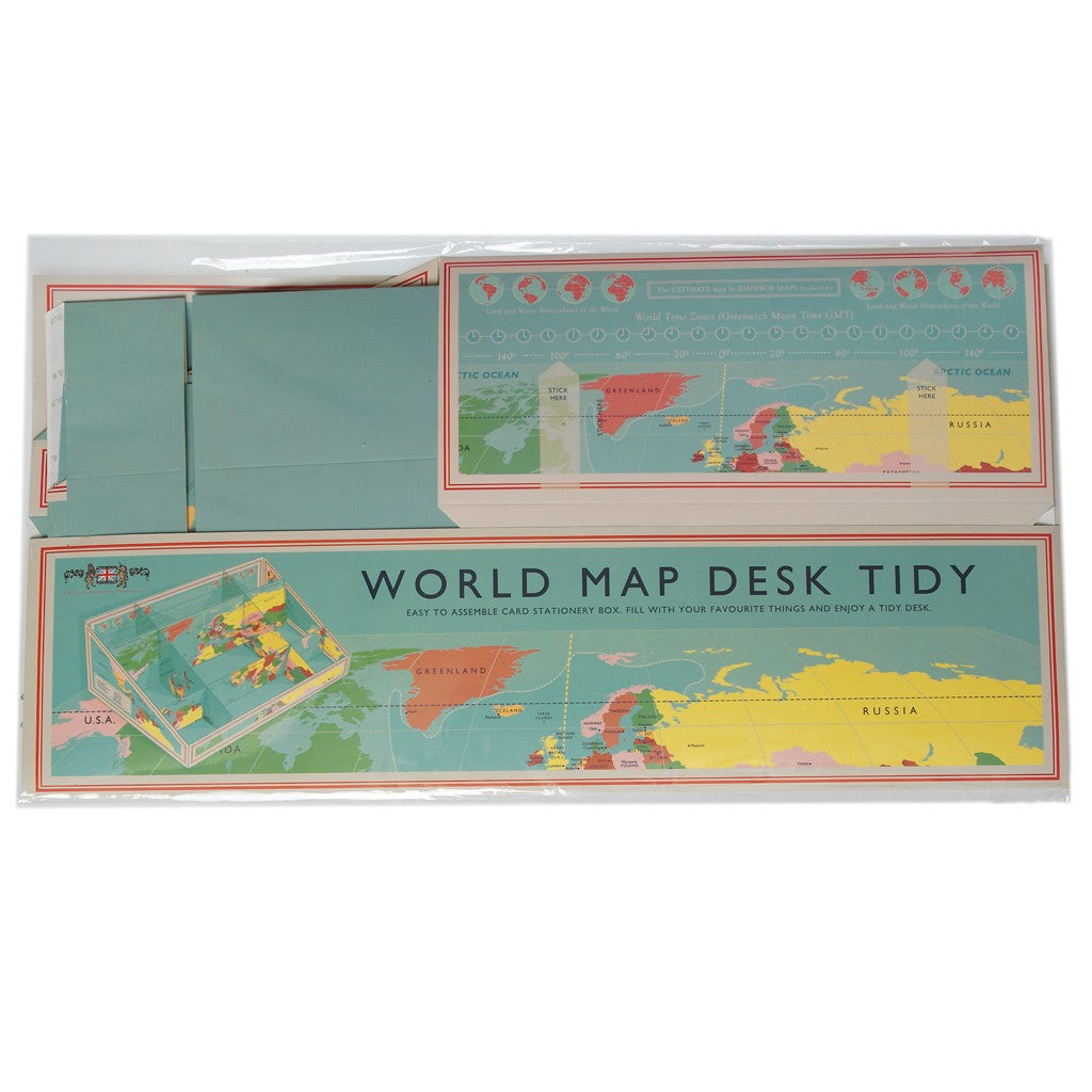 Vintage world map desk tidy indigo blue trading vintage world map desk tidy gumiabroncs Image collections