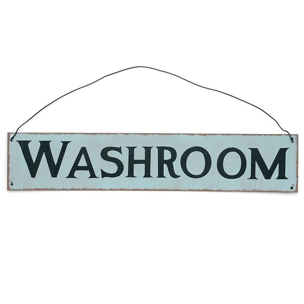 Washroom Metal Sign