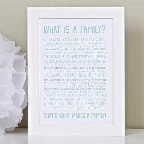 What is a Family Poem Print