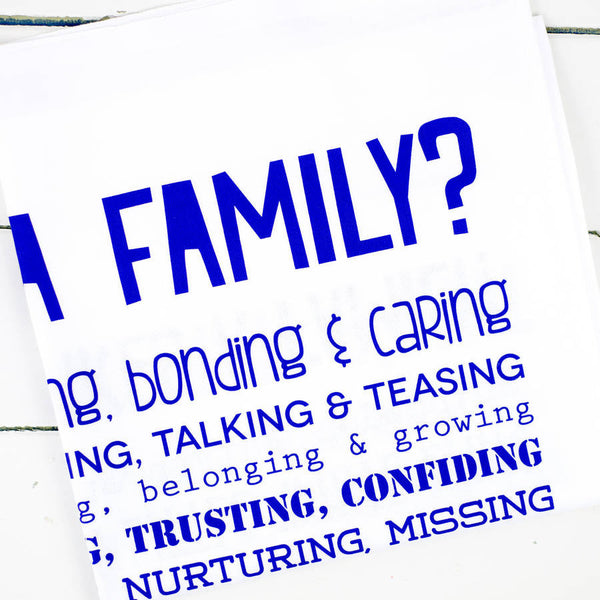 What is a Family Poem Tea Towel