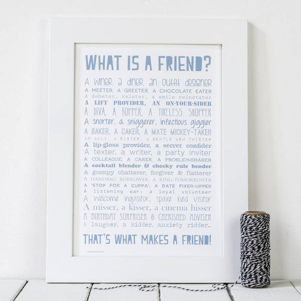 What is a Friend Poem Print