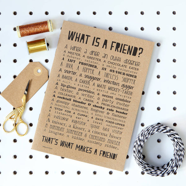 What is a Friend Poem Notebook