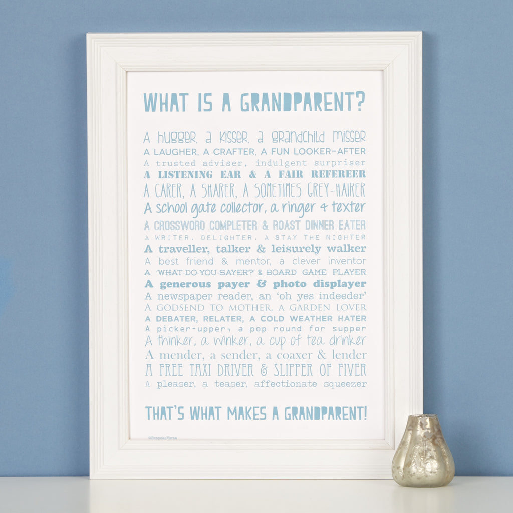 What is a Grandparent Poem Print