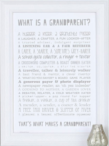 Bespoke Verse What Is A Grandparent Poem Print Indigo