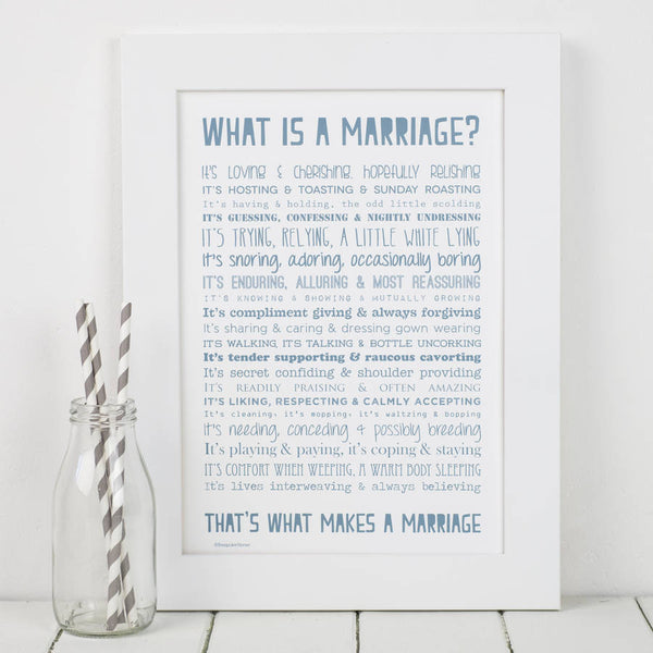 What is a Marriage Poem Print