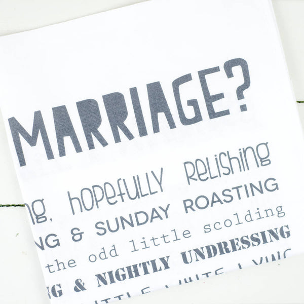 What is a Marriage Poem Tea Towel