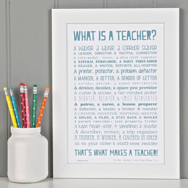 What is a Teacher Poem Print